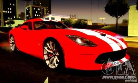Dodge Viper SRT  GTS para vista inferior GTA San Andreas
