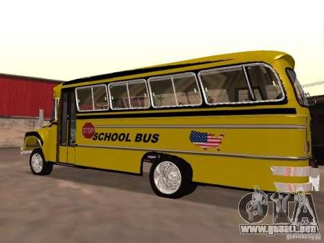 Bedford School Bus para GTA San Andreas left