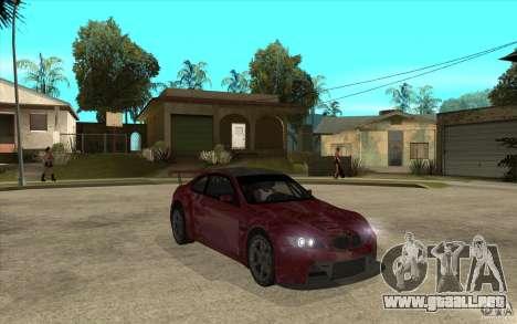 BMW M3 2009 para GTA San Andreas vista hacia atrás