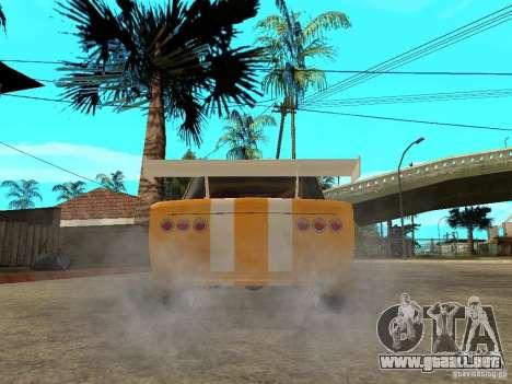 VAZ 2101 Globus para GTA San Andreas vista posterior izquierda