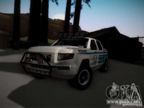 Honda Ridgeline Baja White para GTA San Andreas vista posterior izquierda