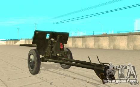 Pistola ZiS-2 para GTA San Andreas vista posterior izquierda