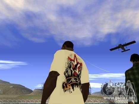Camiseta NoGGano228 y AK 47 para GTA San Andreas sucesivamente de pantalla