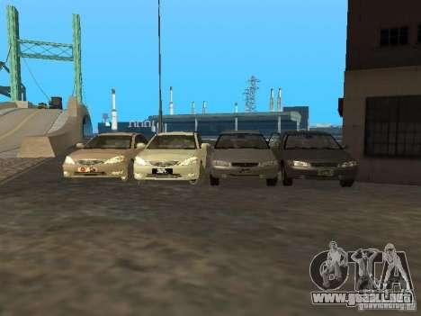 Toyota Camry 2003 para vista lateral GTA San Andreas