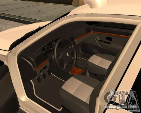 Peugeot 406 Taxi 2 para la visión correcta GTA San Andreas