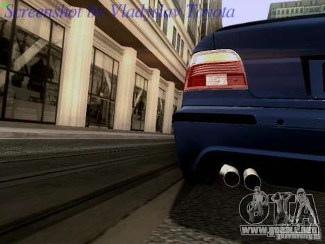BMW E39 M5 2004 para la vista superior GTA San Andreas