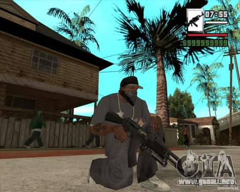AK47 with GP-30 para GTA San Andreas tercera pantalla