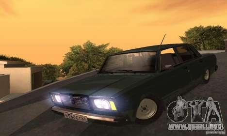 VAZ 2107 v. 3 para GTA San Andreas vista hacia atrás