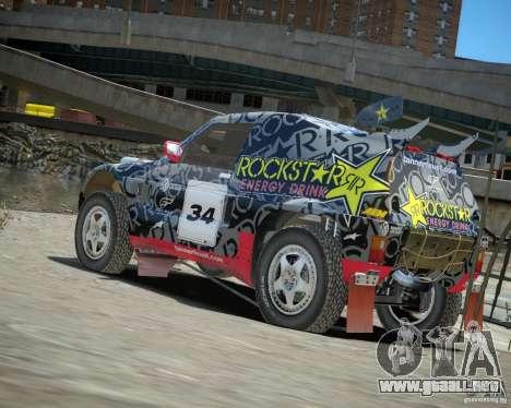 Mitsubishi Pajero Proto Dakar EK86 vinilo 1 para GTA 4 Vista posterior izquierda
