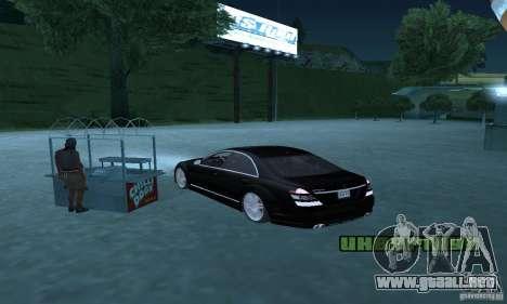 Brabus SV12 S Biturbo (w221) 2006 para la visión correcta GTA San Andreas