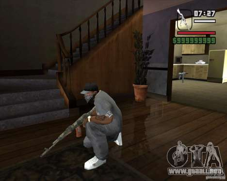 Kalash de METRO 2033 para GTA San Andreas tercera pantalla