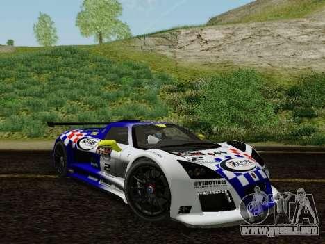 Gumpert Apollo S 2012 para la vista superior GTA San Andreas