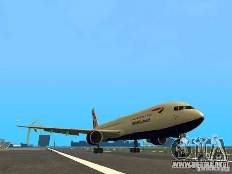 Boeing 767-300 British Airways para GTA San Andreas left