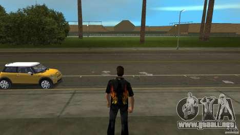 Señor fuego con pantalones vaqueros čërnimi para GTA Vice City segunda pantalla