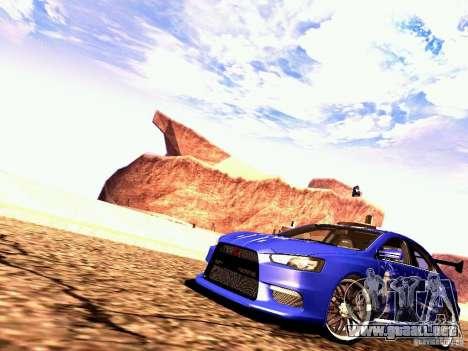 Mitsubishi Lancer EVO X Juiced2 HIN para GTA San Andreas left