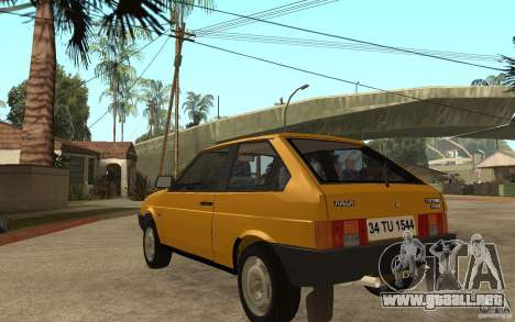 VAZ Lada Samara 2108 Sport para GTA San Andreas vista posterior izquierda