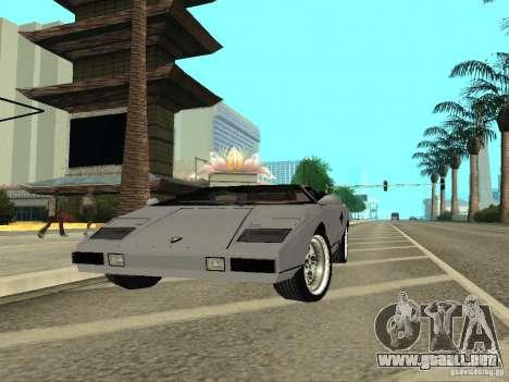 Lamborghini Countach LP400 para la visión correcta GTA San Andreas