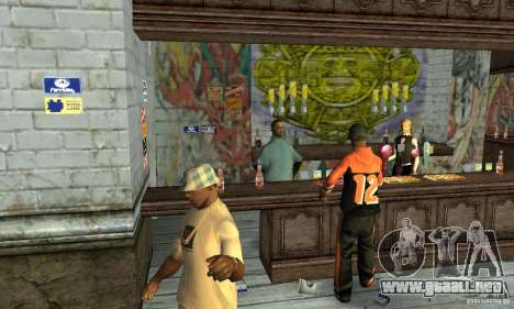 Drunk mod para GTA San Andreas sucesivamente de pantalla