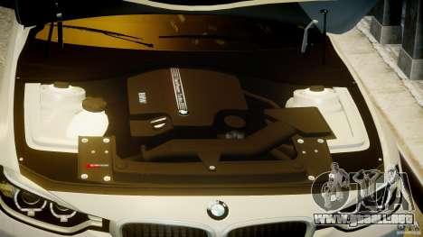 BMW 335i E30 2012 Sport Line v1.0 para GTA 4 vista desde abajo
