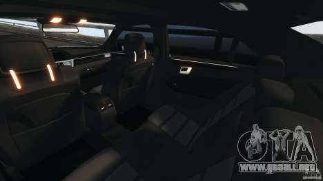 Mercedes-Benz E63 AMG 2010 para GTA 4 vista interior