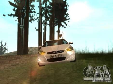 Hyundai Solaris para GTA San Andreas vista posterior izquierda
