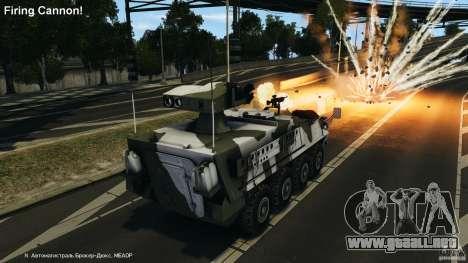 Stryker M1134 ATGM v1.0 para GTA 4 vista superior