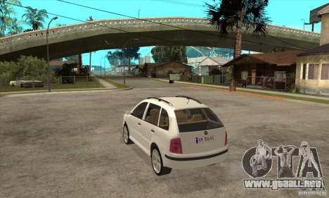 Skoda Fabia Combi para GTA San Andreas vista posterior izquierda