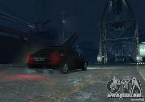 Hatchback LADA priora para GTA 4 vista hacia atrás