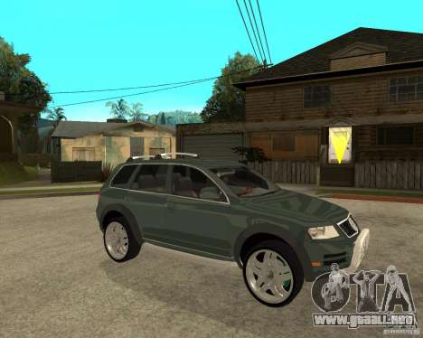 Volkswagen Touareg V10TDI 4x4 para la visión correcta GTA San Andreas