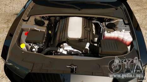 Dodge Charger RT Max Police 2011 [ELS] para GTA 4 vista superior