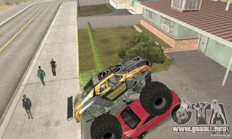 Monster Truck Maximum Destruction para visión interna GTA San Andreas