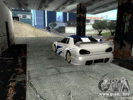 Vinilo con el BMW M3 GTR en Most Wanted para GTA San Andreas vista posterior izquierda
