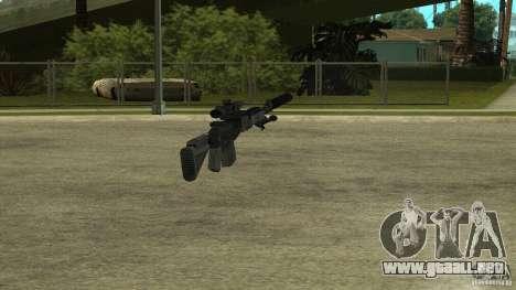 Mk14 EBR con silenciador para GTA San Andreas quinta pantalla