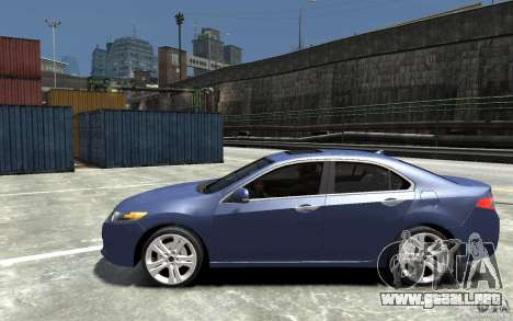 Acura TSX 2011 para GTA 4 left