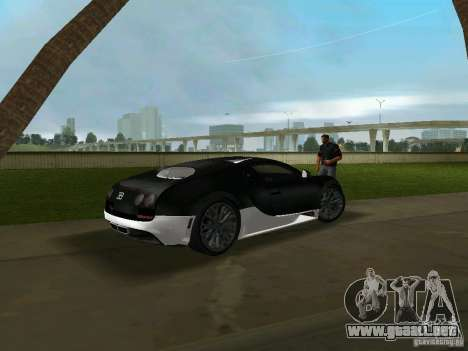 Bugatti Veyron Extreme Sport para GTA Vice City vista lateral izquierdo