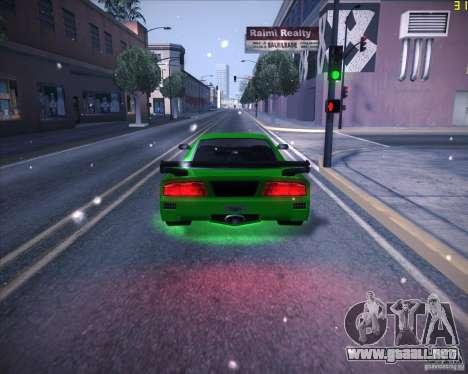 Tuned Turismo para GTA San Andreas vista posterior izquierda