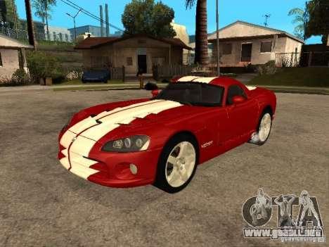 Dodge Viper Coupe 2008 para vista lateral GTA San Andreas