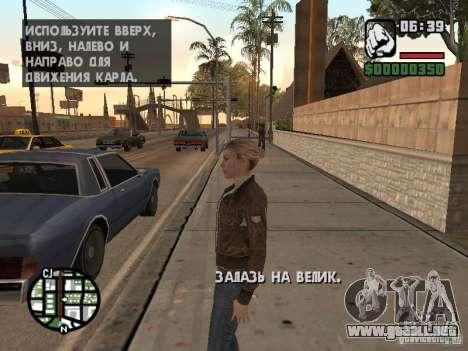 Lucy Stillman in Assassins Creed Brotherhood para GTA San Andreas segunda pantalla