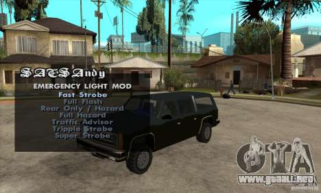 ELM v9 for GTA SA (Emergency Light Mod) para GTA San Andreas