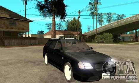 Subaru Legacy Station Wagon para GTA San Andreas vista hacia atrás