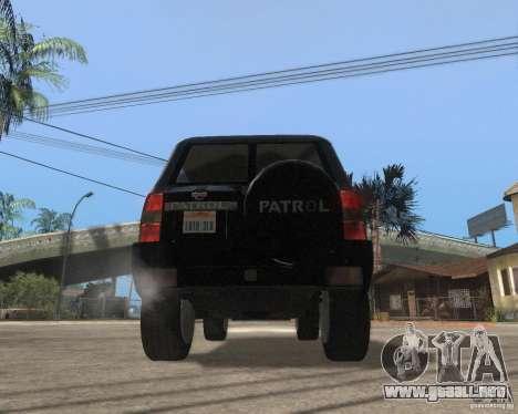 Nissan Patrol 2005 Stock para la visión correcta GTA San Andreas