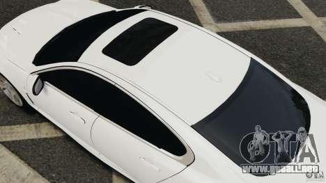 Jaguar XFR 2010 v2.0 para GTA 4 Vista posterior izquierda