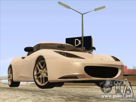 Lotus Evora para GTA San Andreas vista posterior izquierda