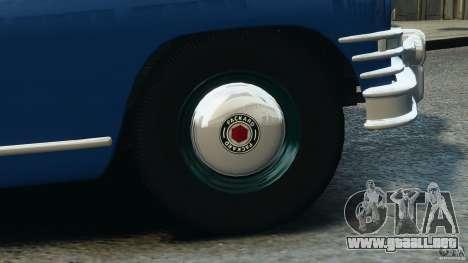 Packard Eight Police 1948 para GTA 4 interior