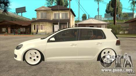 Volkswagen Golf VI 2010 Stance Nation para GTA San Andreas left