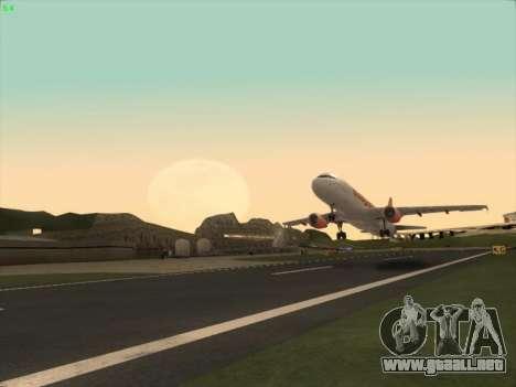 Airbus A320-214 EasyJet para la visión correcta GTA San Andreas