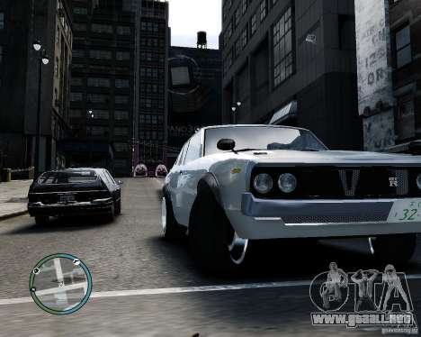Nissan Skyline KPGC110 2000GT-X para GTA 4 vista hacia atrás