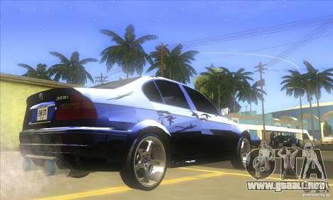 BMW 325i E46 v2.0 para GTA San Andreas vista posterior izquierda