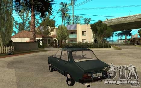 Dacia 1300 Cocalaro Tzaraneasca para GTA San Andreas vista posterior izquierda