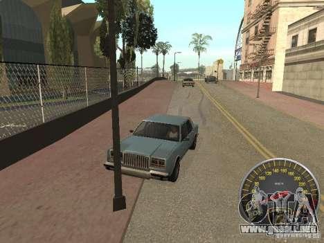 Lamborghini velocímetro para GTA San Andreas tercera pantalla